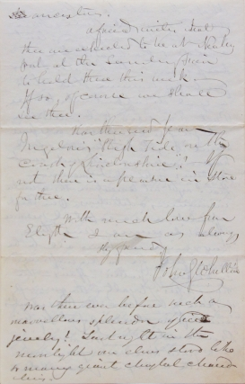 Autograph letter signed to Lucy Larcom