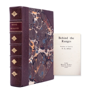 Behind the Ranges. Parentheses of Travel. F. G. Aflalo, rederick, eorge