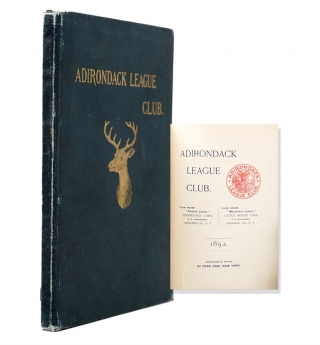Adirondack League Club 1892 [Yearbook]. Adirondacks