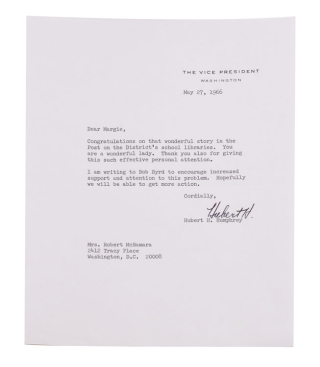 Archive of 13 Typed Letters, signed, to Robert and/or Margaret McNamara, including a heartfelt letter on the death of Robert Kennedy