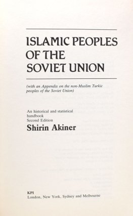 Islamic Peoples of the Soviet Union