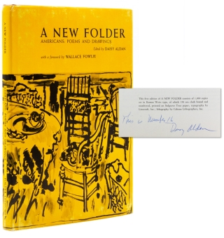 A New Folder ... Americans: Poems and Drawings. With a foreward by Wallace Fowlie. Daisy Aldan