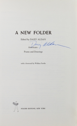 A New Folder ... Americans: Poems and Drawings. With a foreward by Wallace Fowlie