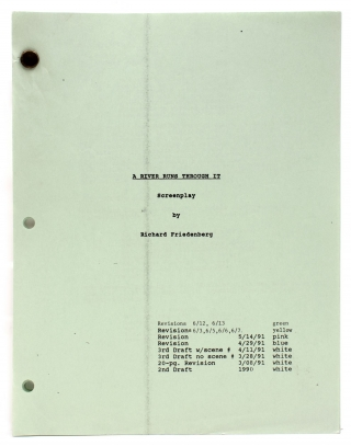 A River Runs through It. Screenplay [Adapted from the novella by Norman Maclean]