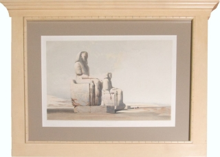 "Contemporay Hand-colored lithograph: ""Thebes"" from ""Egypt & Nubia"" David Roberts."