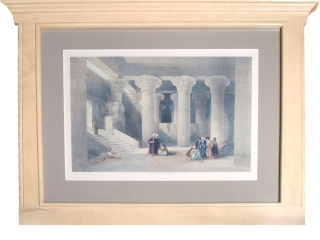 "Hand-Colored Lithograph: ""Temple at Esneh, Nov. 25, 1838."""
