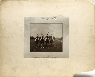 Myopia Polo Team 1895: Contemporary copy of the original photograph in its lettered mat