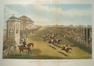Doncaster Races. Race for the Great St. Leger Stakes, 1836, Anticipation-Who is the Winner?