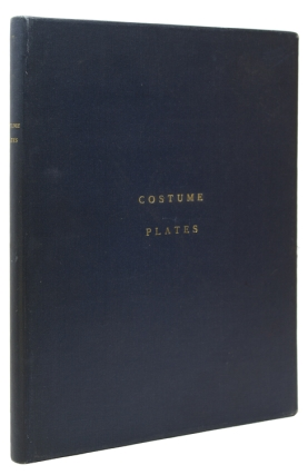 A portfolio containing 25 miscellaneous hand-colored costume plates. Costume Plates