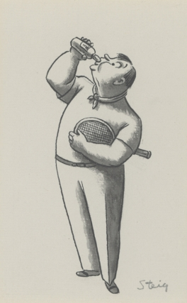 Original drawing for a New Yorker magazine cartoon. William Steig.