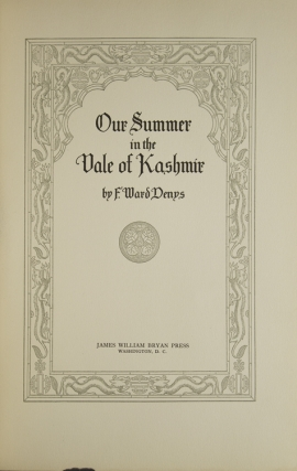 Our Summer in the Vale of Kashmir. (Preface by Mitchell Carroll)