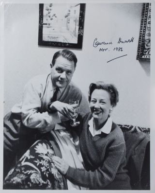 "Photograph signed ""Lawrence Durrell"". Lawrence Durrell."