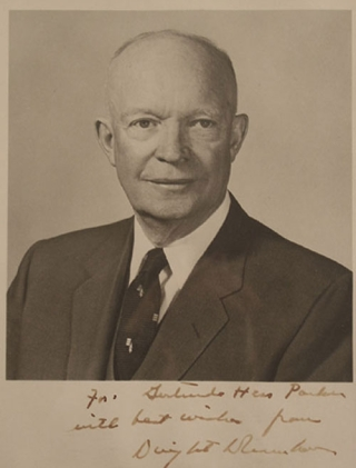 Portrait photograph of Dwight David Eisenhower. Dwight David Eisenhower.