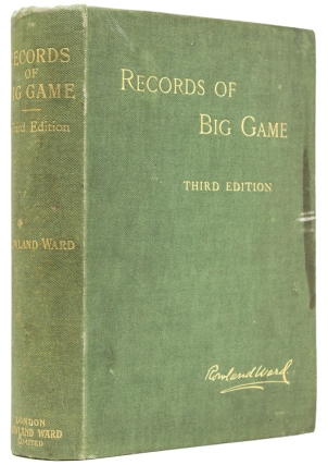 Records of Big Game with their Distribution, Characteristics, Dimensions, Weights and...