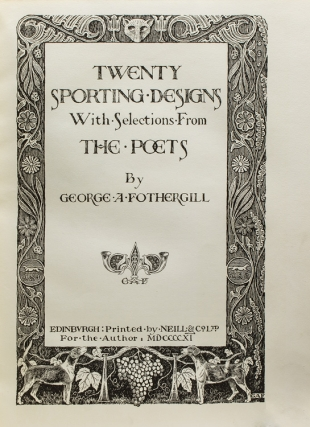 Twenty Sporting Designs, With Selections from the Poets