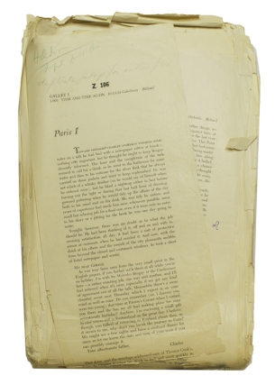 Manuscript archive for his final novel, TIME AND TIME AGAIN