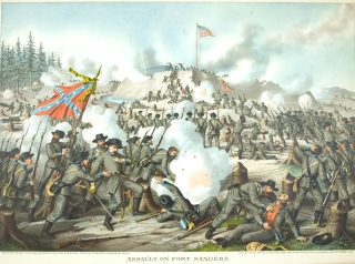 Assault on Fort Sanders. Novemebr 29th 1863. [Chromolithographic print]. Civil War, Kurz