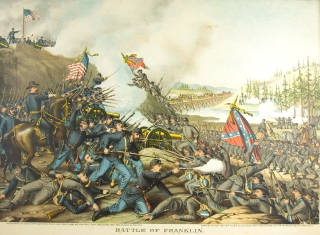 Battle of Franklin. November 30 1864. [Chromolithographic print]. Civil War, Kurz.