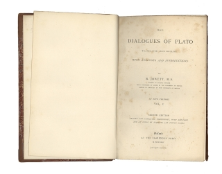 The Dialogues of Plato. Translated into English with Analyses and Introductions by B.(enjamin) Jowett