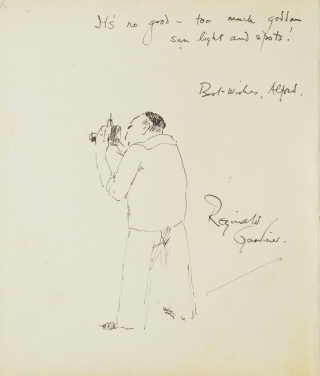 "Autograph Note, Signed, to Alfred Eisenstaedt. ""To 'Al,' a grand person and a fellow I am..."