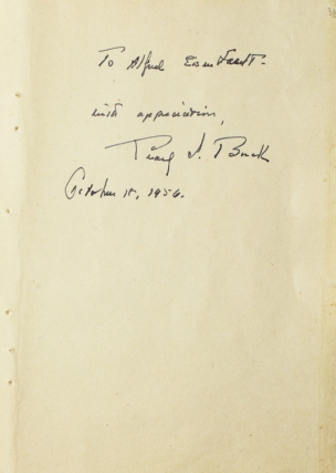 Autograph Note Signed to Alfred Eisenstaedt, October 18, 1956. Pearl S. Buck