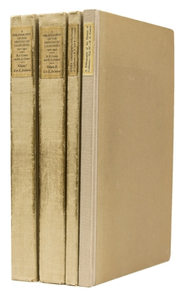 A Bibliography of the History of California 1510-1930. WITH Supplement. Robert Ernest Cowan,...
