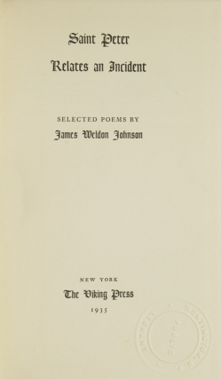 Saint Peter Relates an Incident. Selected Poems
