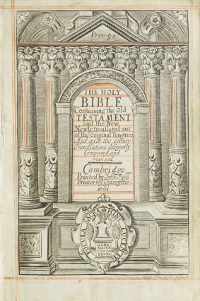 The Holy Bible, containing the Old Testament and the New [Without New Testament]
