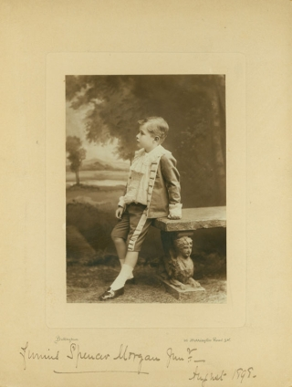 Two Portrait photographs of Junius Spencer Morgan, Jr., as toddler and child, dated December 1894 and August 1898
