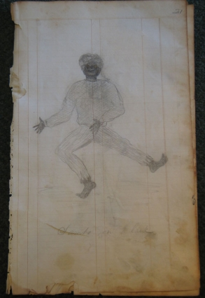 Nineteenth Century Naive album of Black and Baseball Interest with a Label 'specimens of Drawing by James Pirnie No. 6 Joralemon Street, Brooklyn, L. Island New York State United States of America Western Hemisphere""