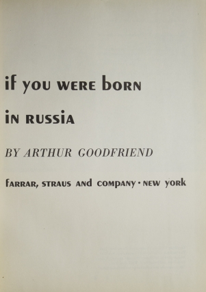 If You Were Born in Russia