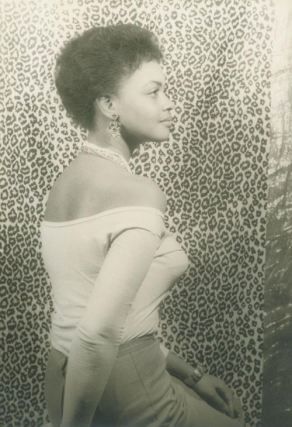 Portrait photograph of Ethel Ayler as Zirata in Simply Heavenly, by Langston Hughes. Ethel Ayler, Carl Van Vechten.