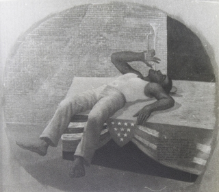 """Photograph of study for """"U.S.A"""" by Elwyn Chamberlain"""