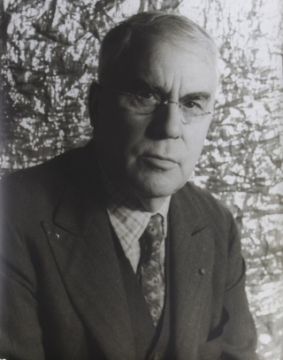 Portrait photograph of Albert C. Barnes, New York. Albert C. Barnes, Carl Van Vechten