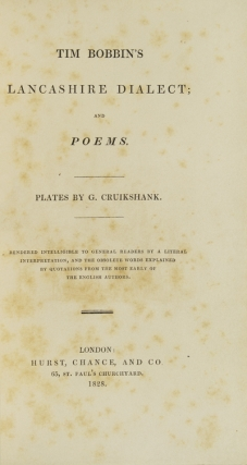 Tim Bobbin's Lancashire Dialect; and Poems