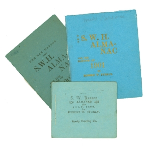 S.W. Harbor Almanac for July, 1899; The S.W.H. Almanac for the Summer of 1901; & The Bar Harbor and S.W. H. Almanac for the Summer of 1902