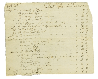 "Manuscript Account for ""Doct. Edward Durant"". Colonial Account"