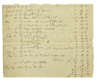 "Manuscript Account for ""Doct. Edward Durant"""