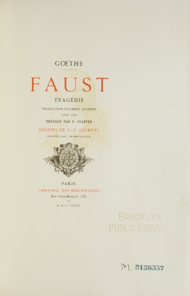 Faust…Traduction d'Albert Stopfer